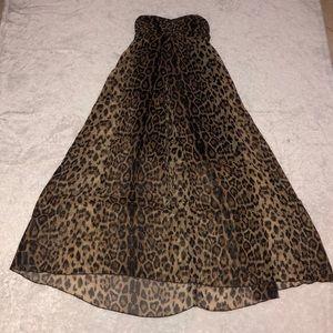 Sans Souci Leopard Print Maxi Dress